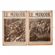 """Jornal """"Le Miroir"""" - 2 publicações"""
